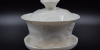 Gaiwan Deckeltasse aus weissem Porzellan (90ml)