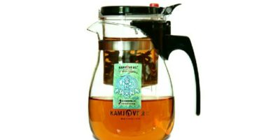 Glas Teekanne (700ml) mit integriertem Teesieb