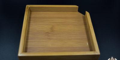 Mini Ablagefach aus Bambus für Pu-Erh-Kuchen / Ziegel